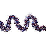 25' Red and Purple Wide Cut Garland - Unlit by Christmas Central