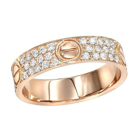 18K Gold Eternity Cartier Style Diamond Wedding Band for