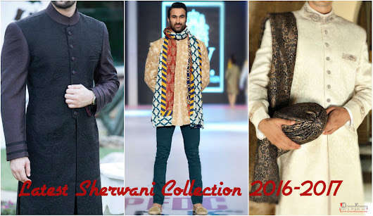 Latest Sherwani Collection 2016 - 2017 for Men - Dresses Fashion
