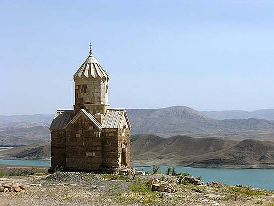 The medieval Armenian chapel of Dzordzor in Northern Iran