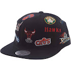 Mitchell & Ness Black NBA All-Over Deadstock East Snapback