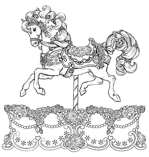 Beautiful Carousel Horse Coloring Pages Colouring Pages