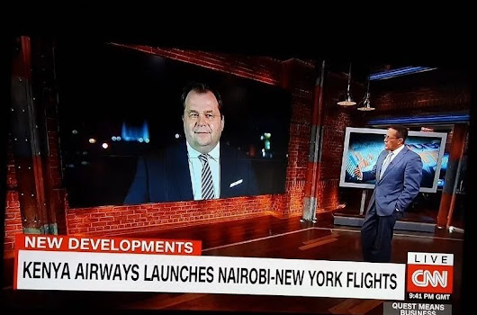 Top CNN anchor Richard Quest to fly on Kenya's inaugural direct flight to NY for his globally renowned Quest Means Business show | Samrack Media
