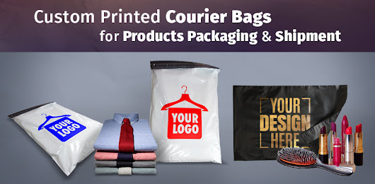 Custom Printed Plastic Courier Bags for Products Packaging & Shipment