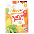 Happy Tot Organics Super Smart Organic Bananas, Mangos & Spinach + Coconut Milk Fruit & Veggie Blend 4-4 Oz. Pouch