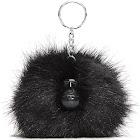 Kipling Women's Pompom Monkey One Size True Black