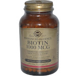 Solgar Enhanced Potency Biotin, 1000 mcg, Vegetable Capsules - 250 count
