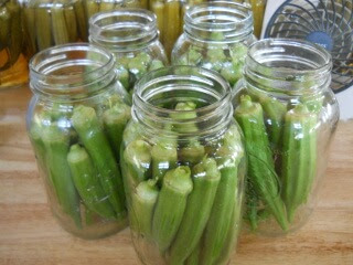 Jars of Whole Okra