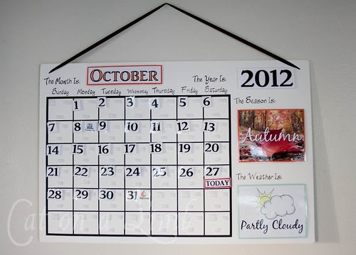 Calendar Made By Kids : Cat on a limb calendar for the kids free printables