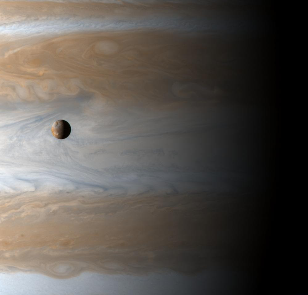 Io crossing Jupiter