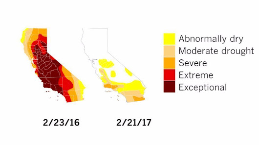 Most of California is out of the drought