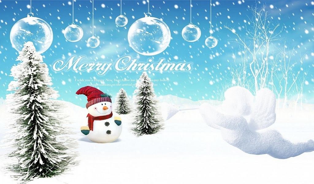 Beautiful Merry Christmas Hd [1024x600]