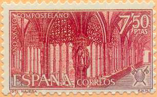 1971 - 7,50 pesetas - Santa María la Real de Nájera