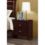 Coaster Red MDF and Veneer Nightstand