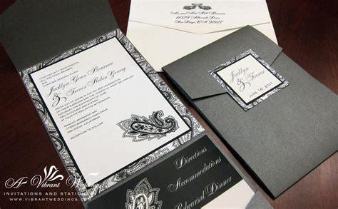 pocket fold invitation   A Vibrant Wedding Web Blog