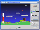 Screenshot of the simulation The Greenhouse Effect