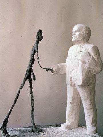 Leonid Sokov: Lenin and Giacometti (1987)