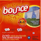 Bounce Fabric Softener Outdoor Fresh Sheets - 320 count