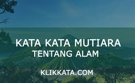 kata bijak alam kata kata mutiara