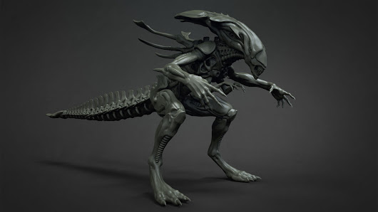 Alien Queen Model By Isaac Oster