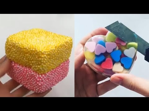 ASMR Video Most Satisfying Playing Slime Floral Foam Soap Carving & More...