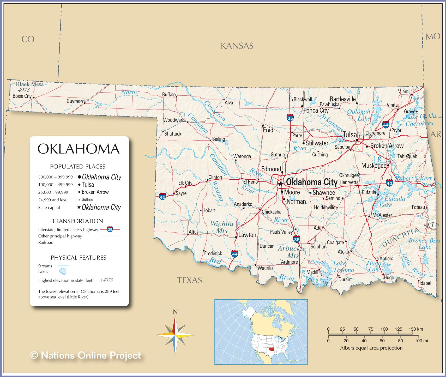Cushing Oklahoma Map | World Map 07