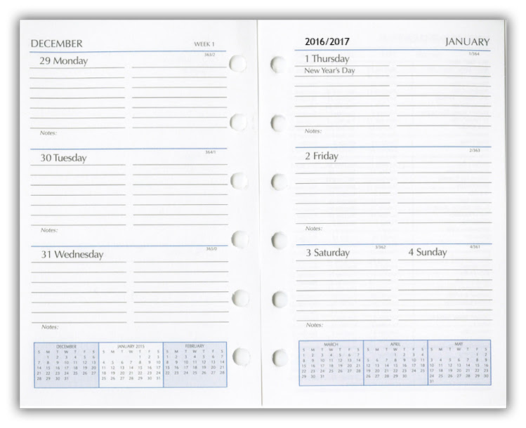 Day Planner Refills, Refill Pages, Planner Inserts.