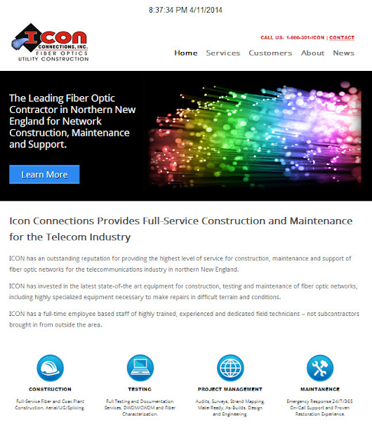 Fiber Optic Contractor Website Launched | Gadarian Digital