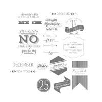 Christmas Tagables Photopolymer Stamp Set