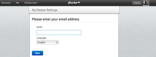 Favstar.fm asking for email after using Twitter for identity