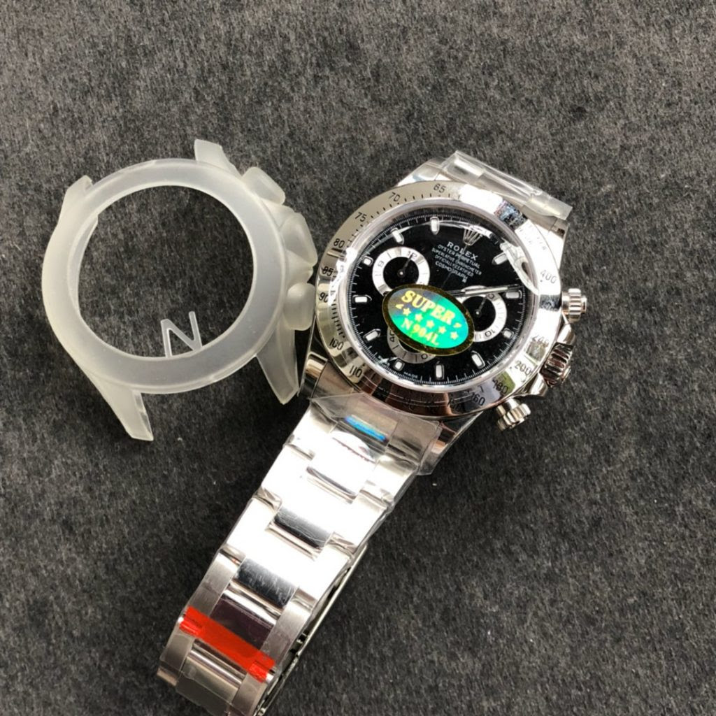 Noob Daytona Stainless Steel Black Dial