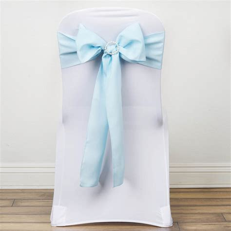 polyester chair sashes ties bows wedding party