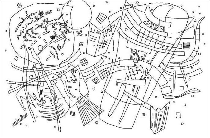Coloriage Composition X De Kandinsky Momesnet