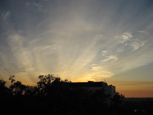 a winter sunset. by freestone