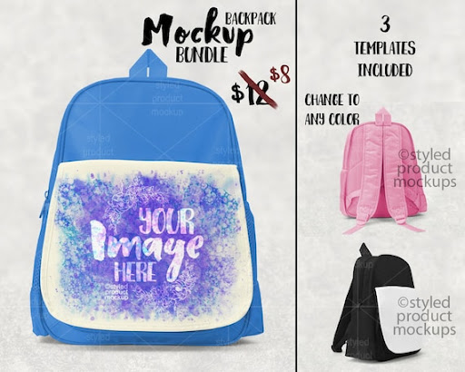 Download Free Dye Sublimation Kids School Backpack Mockup Template ...