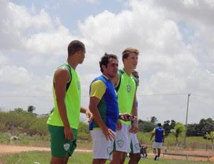 Maurílio Silva comandou o Alecrim em mais um jogo-treino (Foto: Gabriel Peres/Divulgação)