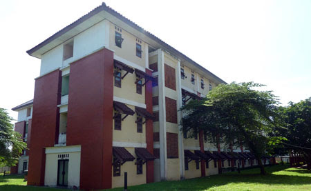 Image result for bangunan asrama