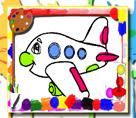 Uçak Boyama Kitabı Oyna Oyunmoyuncom