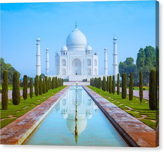 Limited Time Promotion: The Taj Mahal Of India Stretched Canvas Print