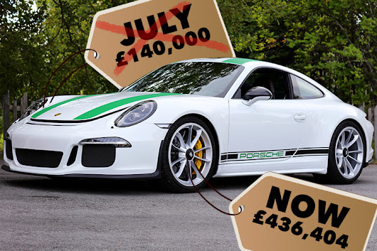 Brand new Porsche 911 sells for £436k at auction - three times what its owner paid in July