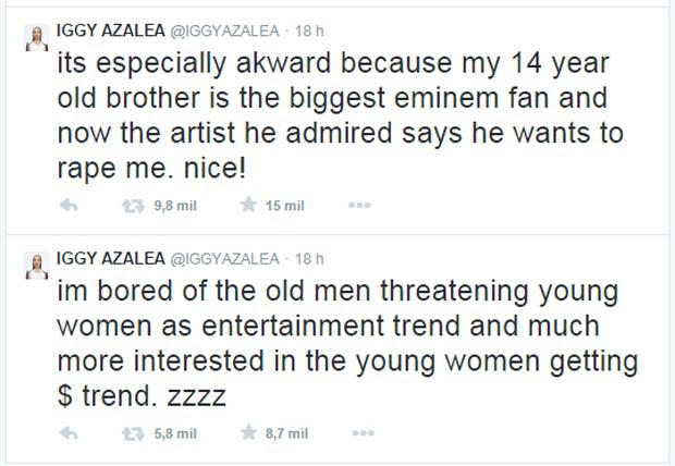 Iggy Azalea critica Eminem no Twitter (Foto: Reprodução/Twitter)