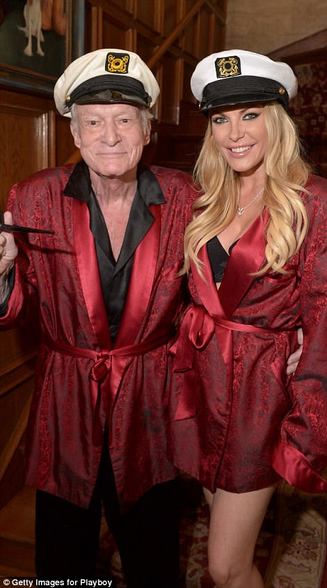 Before he married Crystal Harris when she was 24 in 2012 (above together in 2014), Hefner said he never found his soulmate
