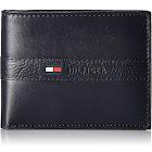 Tommy Hilfiger Men's Leather Ranger Passcase Billfold Wallet - Navy
