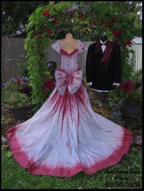 Bloody Bridal Gown Tim Burton Wedding Dress Bloody Vampire
