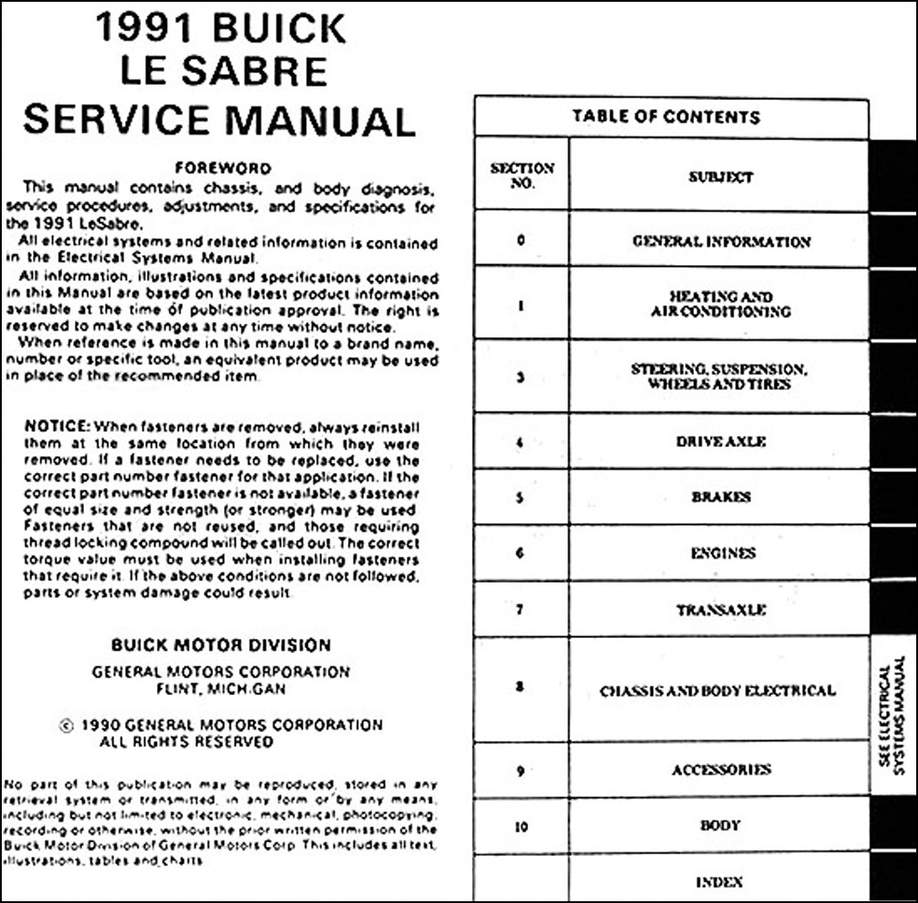 Diagram 1989 Buick Lesabre Service Shop Repair Manual Set Oem Service Manualbody Service Manual New Product Information Manual And The Electrical Wiring Diagrams Manual Full Version Hd Quality Diagrams Manual Jsumldiagrams Archiviobici It