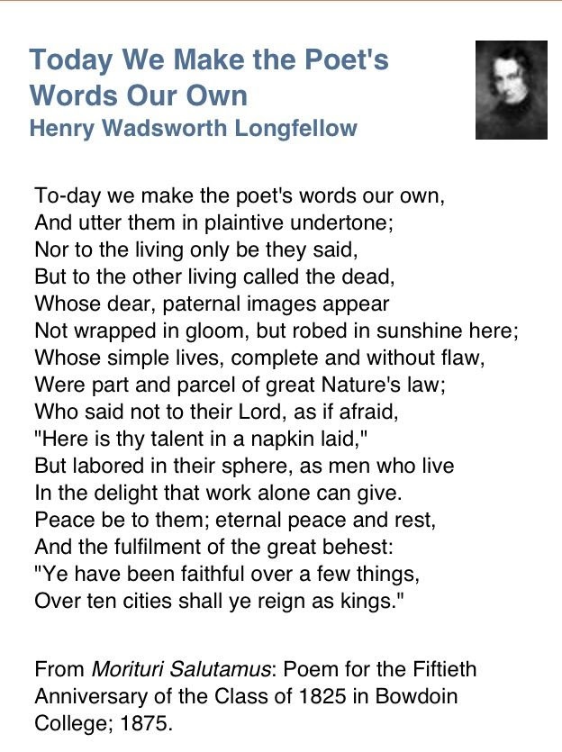 Henry Wordsworth Longfellow