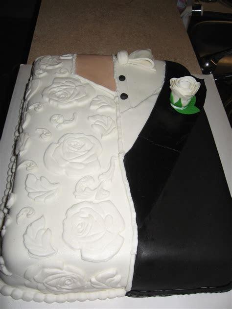 16th Wedding Anniversary Cake. (Replica of dress and tux
