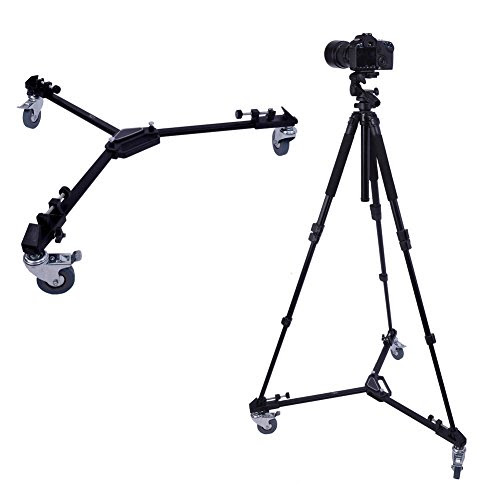 Neewer Photography Professional Tripod Dolly With Rubber Wheels For