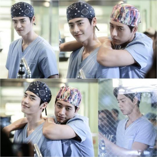 Lee Jong Suk and Park Hae Jin show their camaraderie on set of 'Doctor Stranger' |