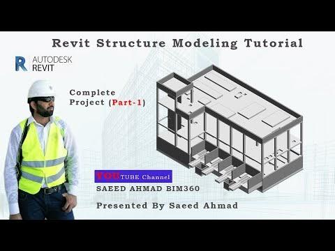 CONCRETE STRUCTURE BUILDING MODELING   REVIT TUTORIAL   VIDEO PART 1